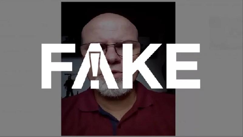 É #FAKE mensagem em vídeo em que homem diz que álcool gel não funciona e recomenda vinagre — Foto:  G1