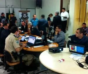 Gabinete de Gestão Integrada, no RN (Foto: Ricardo Araújo/G1)
