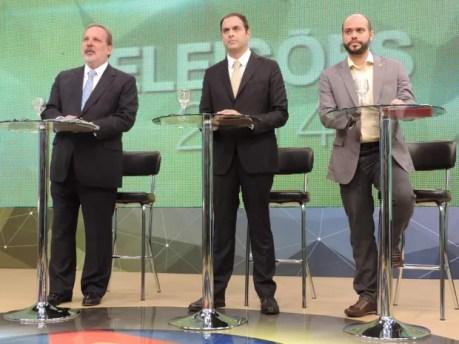 Em Pernambuco, candidatos ao governo fazem primeiro debate na TV (Foto: Renan Holanda / G1)