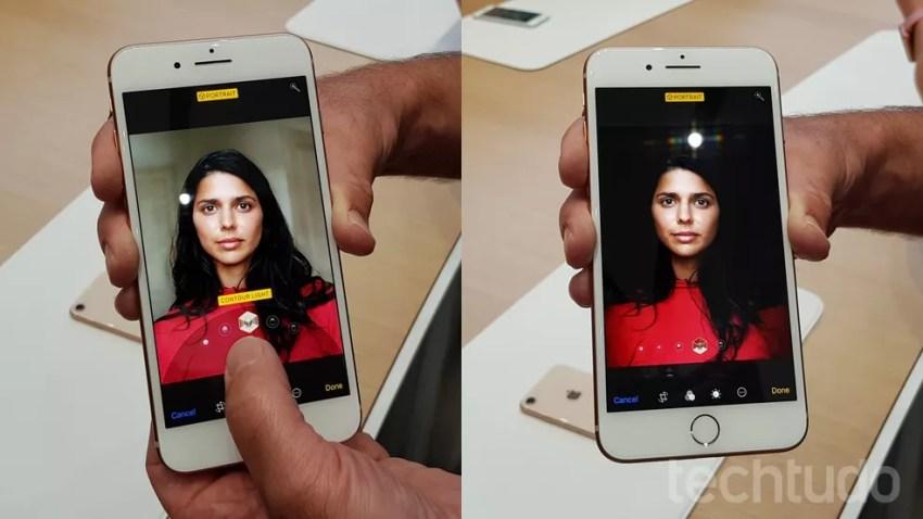 Modo retrato com iluminação no iPhone 8 Plus (Foto: Thássius Veloso/TechTudo)