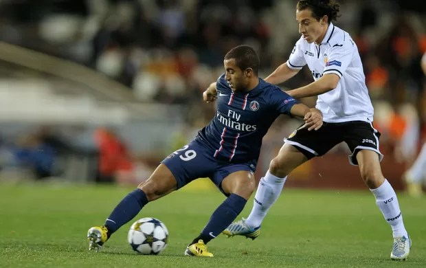 lucas paris saint-germain x valencia (Foto: AFP)