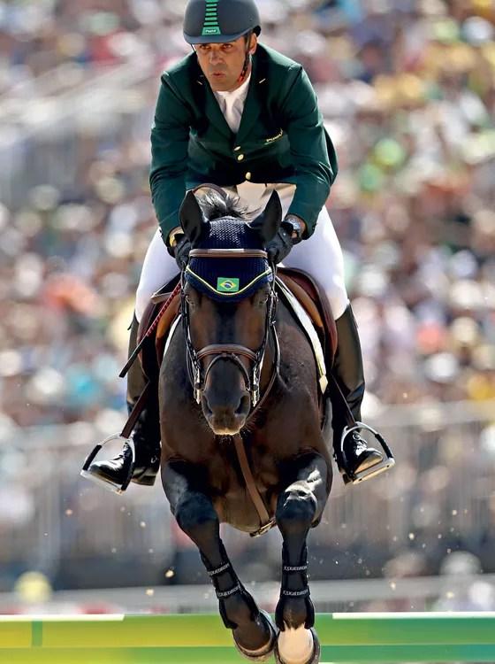 Doda e Cornetto K na Rio 2016. Athina proibiu o cavaleiro  de ver o animal  (Foto:   Mark Kolbe/Getty Images)