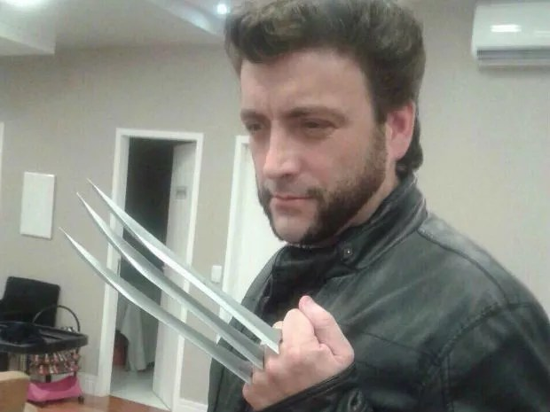 Advogado de São José faz sucesso como sócia de ator de Wolverine  (Foto: Arquivo Pessoal/Luiz Henrique Dias)