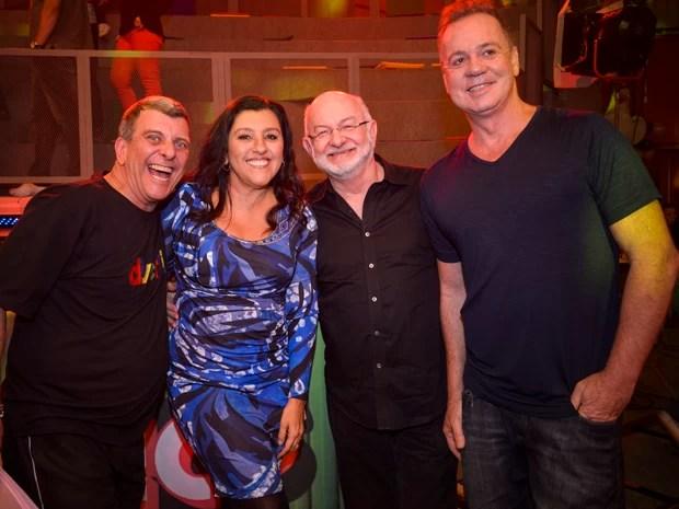 Jorge Fernando, Regina Casé, Silvio de Abreu e Luiz Fernando Guimarães  (Foto: Globo/Raphael Dias)