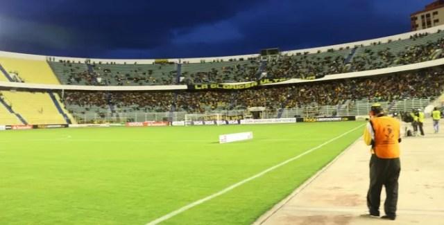 Hernando Silles estádio Inter The Strongest (Foto: Diego Guichard / GloboEsporte.com)