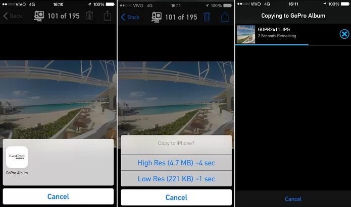 Escolha foto e salve no seu telefone (Foto: Reprodução/Aline Jesus)