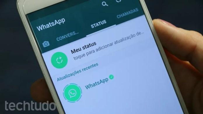Recurso Status também funciona na versão web do WhatsApp (Foto: João Gabriel Balbi/TechTudo)