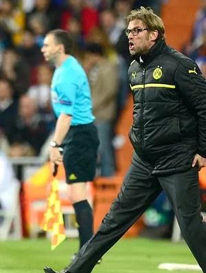 Juergen Klopp jogo Real Madrid Borussia Dortmund (Foto: AFP)
