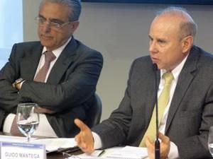 Ministro da Fazenda, Guido Mantega, em encontro na CNI (Foto: Darlan Alvarenga/G1)