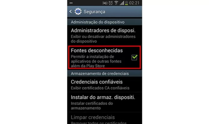 Primeira coisa a se fazer é habilitar seu aparelho Android para receber apps de fora da loja (Foto: Reprodução)