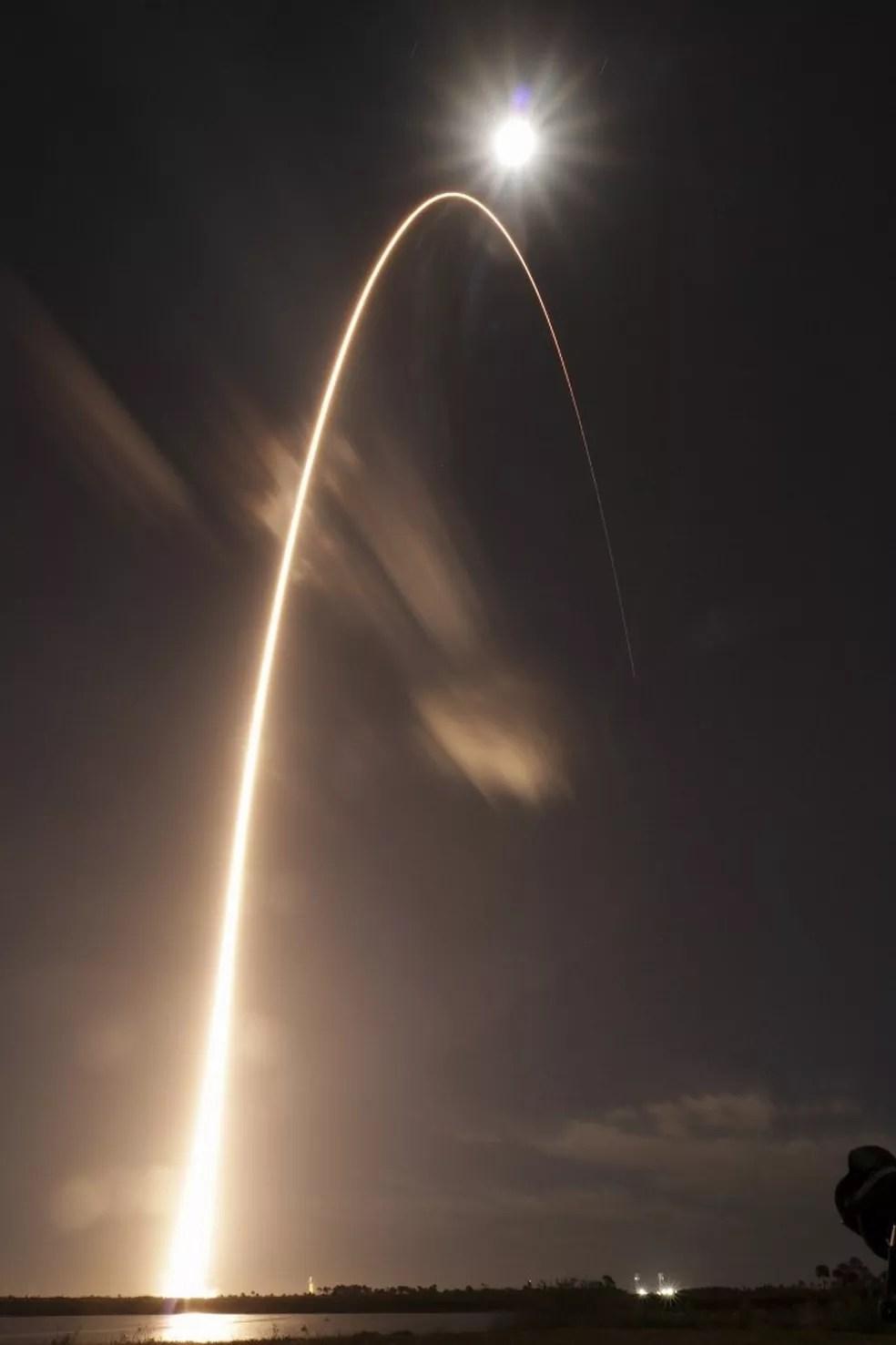 Lançamento da Sonda Solar Orbiter em 9 de fevereiro de 2020 — Foto: Handout / NASA / AFP