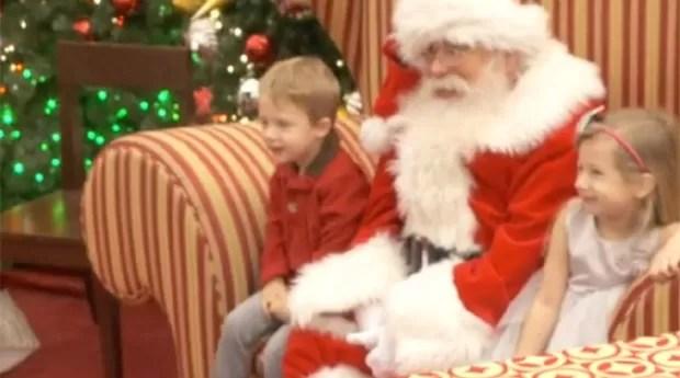 Crianças com autismo podem tirar fotos com o Papai Noel (Foto: Reprodução)