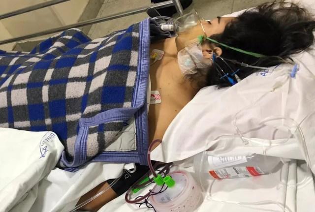 Talyssa Oliveira está internada no RJ há mais de 15 dias  — Foto: Arquivo pessoal