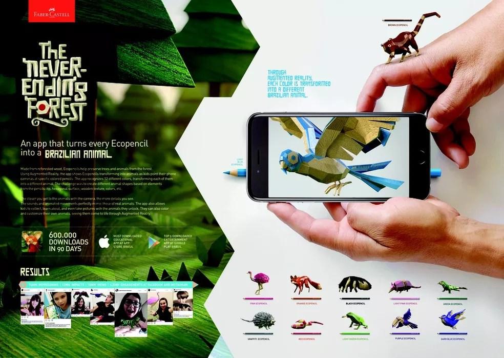 App criado pela David para Faber-Castell faturou ouro na categoria Mobile (Foto: Divulgação )