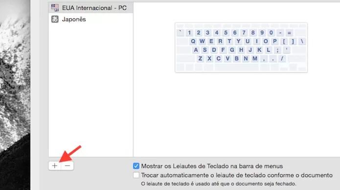 Acessando a lista de idioma de teclados no Mac OS X  (Foto: Reprodução/Marvin Costa)