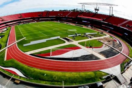 São Paulo faz reformas no Morumbi e espera ter estádio pronto para jogo da Libertadores — Foto: Flavio Florido/BP Filmes