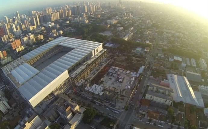 Arena da Baixada no dia 11 de fevereiro (Foto: Edson Lima/RPCTV)