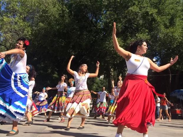Festival Amanhecer começou por volta de 11h e terá 12 horas programação (Foto: Gabriel Barreira/G1)