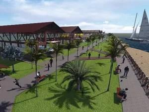 Novo Parque Jacaré não vai ter bares e restaurantes na lâmina d'água (Foto: Reprodução/Projeto Parque Jacaré)