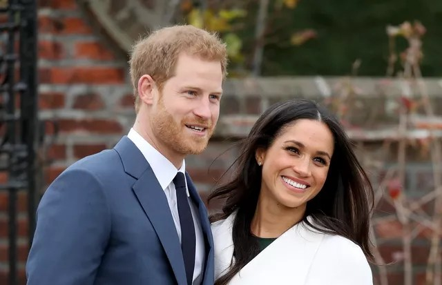 LONDON, ENGLAND - NOVEMBER 27: Prince Harry and actress Meghan Markle during an official photocall to announce their engagement at The Sunken Gardens at Kensington Palace on November 27, 2017 in London, England.  Prince Harry and Meghan Markle have been (Photo: Chris Jackson/Getty Images)