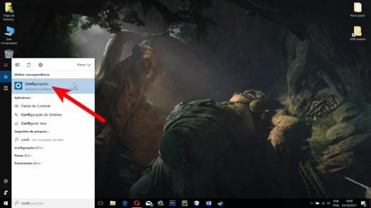 Abra o aplicativo de Configurações do Windows 10 (Foto: Reprodução/Filipe Garrett)