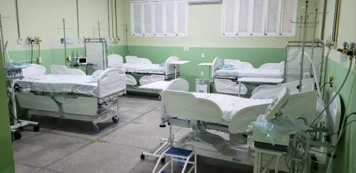 Leitos do Hospital João Machado, que está atualmente com 100% de ocupação — Foto: Divulgação