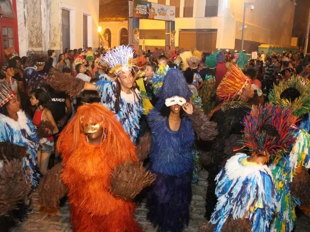 Cortejo de carnaval na rua, em 2015, em São Luís (Foto: Douglas Jr / O Estado)