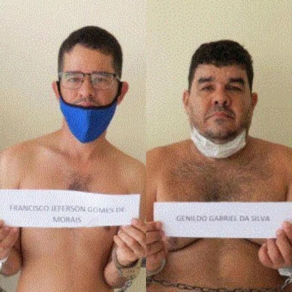 Jeferson Gomes e Genildo Silva foram presos na sexta-feira (11) — Foto: Reprodução