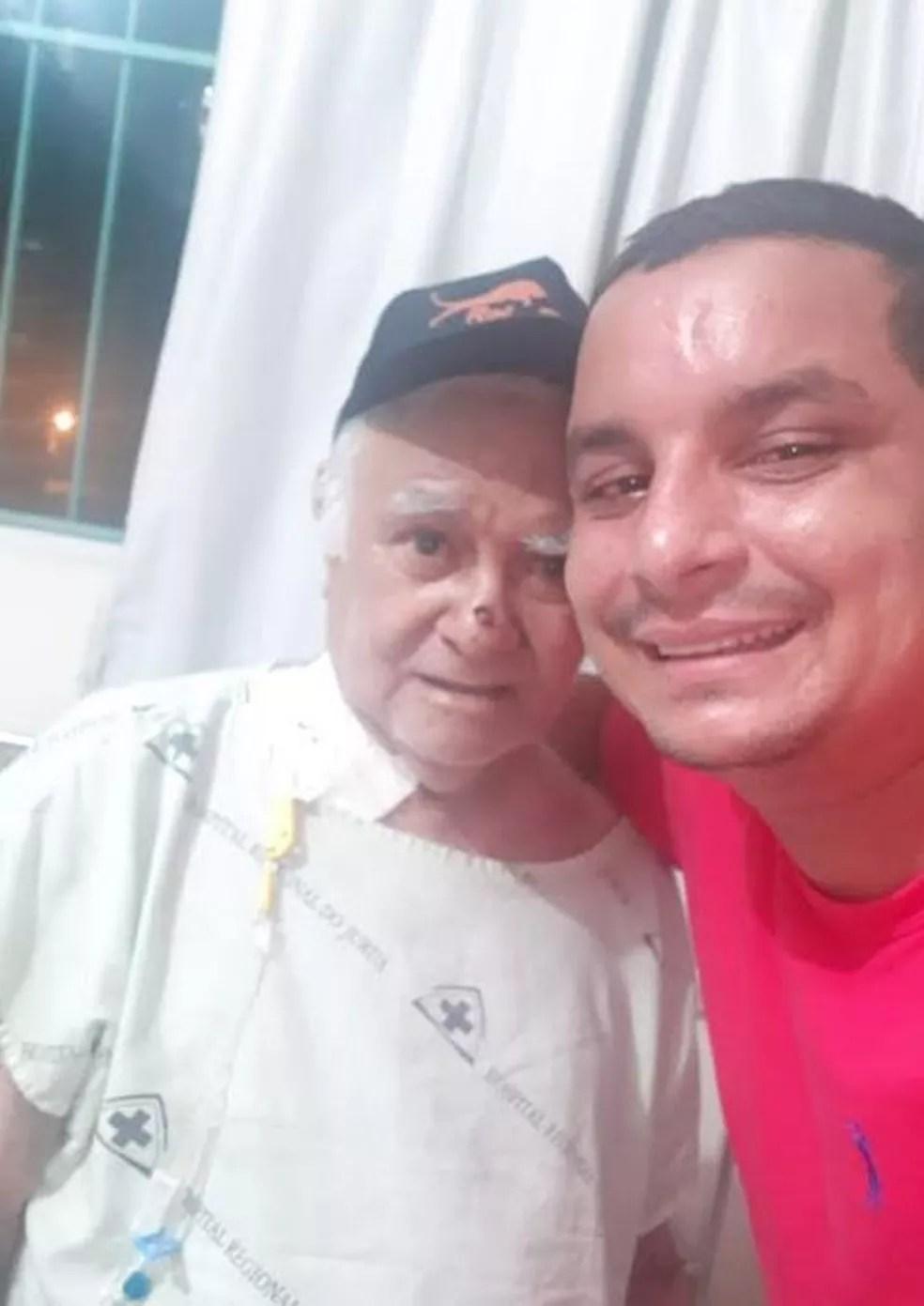 Francisco Pinho está no hospital para cuidar do pai internado com Covid-19 — Foto: cedida