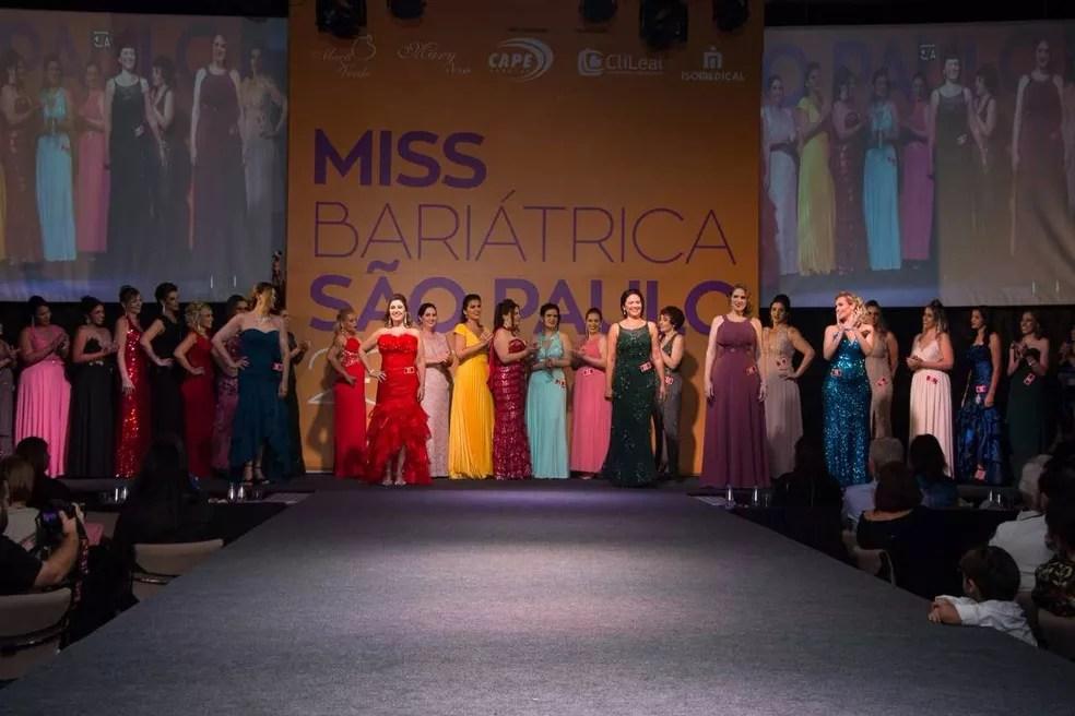 Final do concurso aconteceu no Mendes Convention Center, em Santos (Foto: Divulgação/Miss Bariátrica São Paulo)
