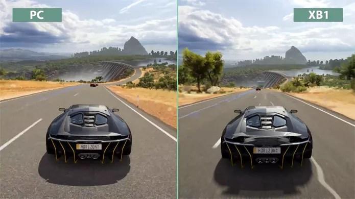 Vdeo Compara Grficos De Forza Horizon 3 No Xbox One E No