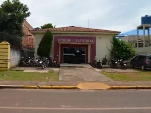 Fórum Eleitoral de Cacoal (Foto: Magda Oliveira/ G1)
