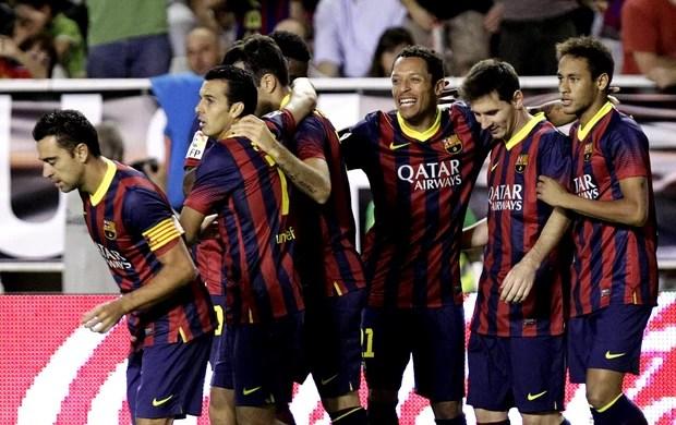 Pedro Rodriguez barcelona gol Rayo Valecano (Foto: Agência EFE)