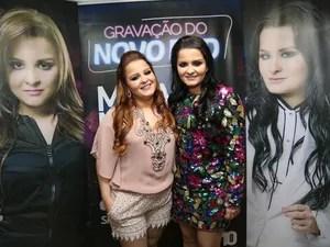 Maiara e Maraísa antes do show realizado em Palmas (Foto: Ademir dos Anjos/Divulgação)