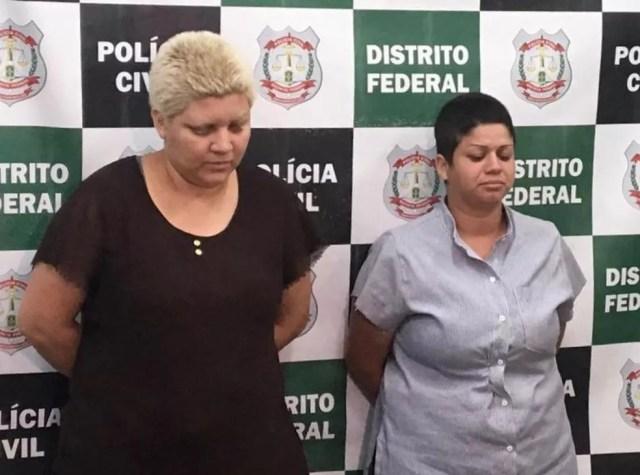 Mulheres suspeitas de matar e esquartejar menino de 9 anos no DF — Foto: Divulgação PC/DF