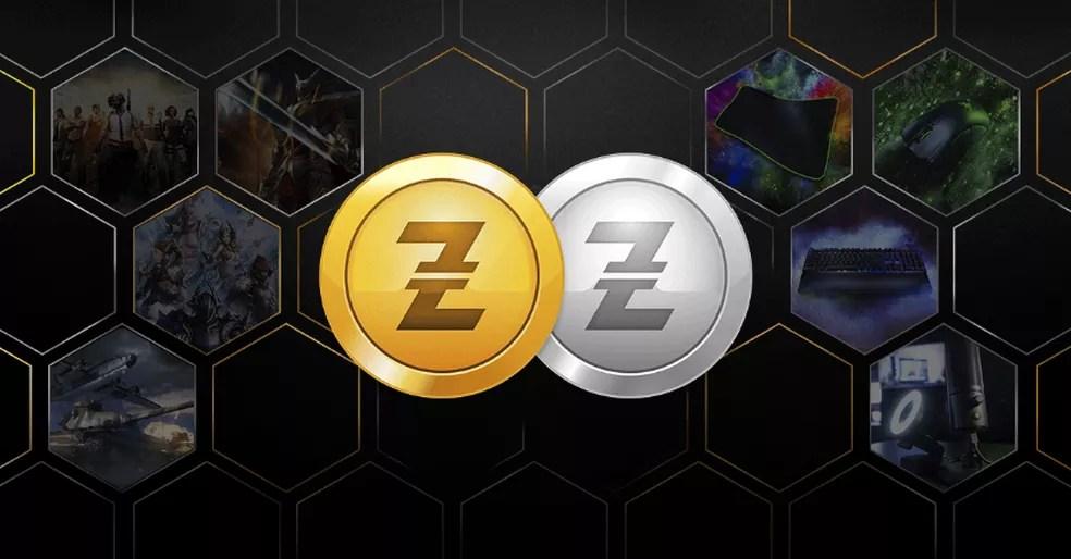 A Razer Gold é uma moeda digital que pode ser utilizada para comprar jogos e itens — Foto: Reprodução/Razer