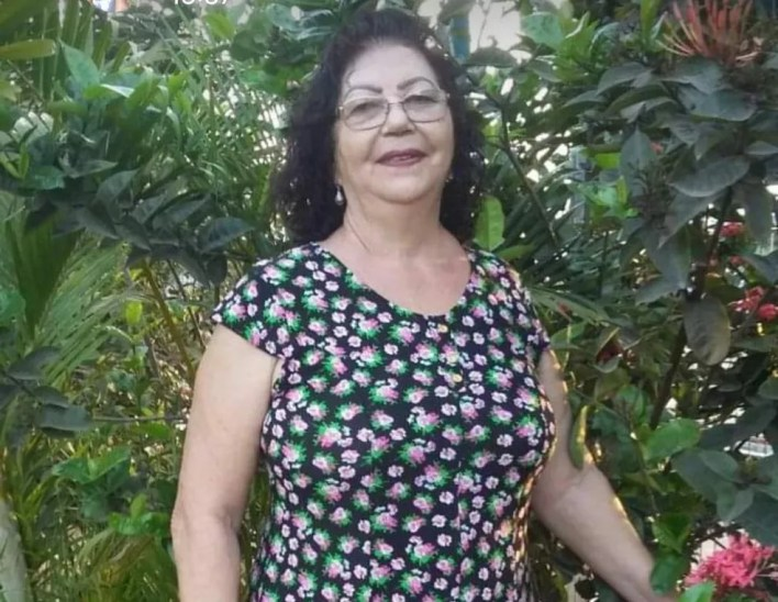 Terezinha Leite Vieira tinha 72 anos e faleceu de Covid-19, em Bocaiuva — Foto: Arquivo pessoal