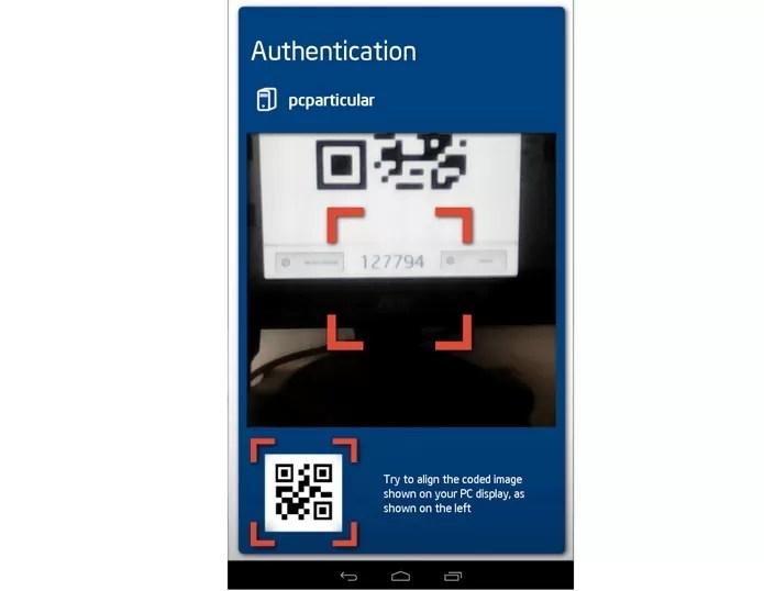 Para integrar o Android ao PC é preciso reconhecer o dispositivo com QR Code (Foto: Reprodução / Dario Coutinho)