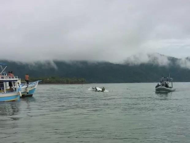 Acidente foi próximo à Ilha Rasa, em Paraty (Foto: Arquivo Pessoal)