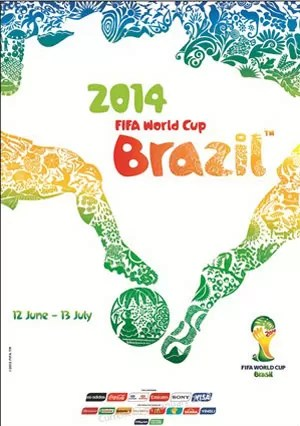 Pôster copa do mundo 2014 (Foto: Fifa.com)