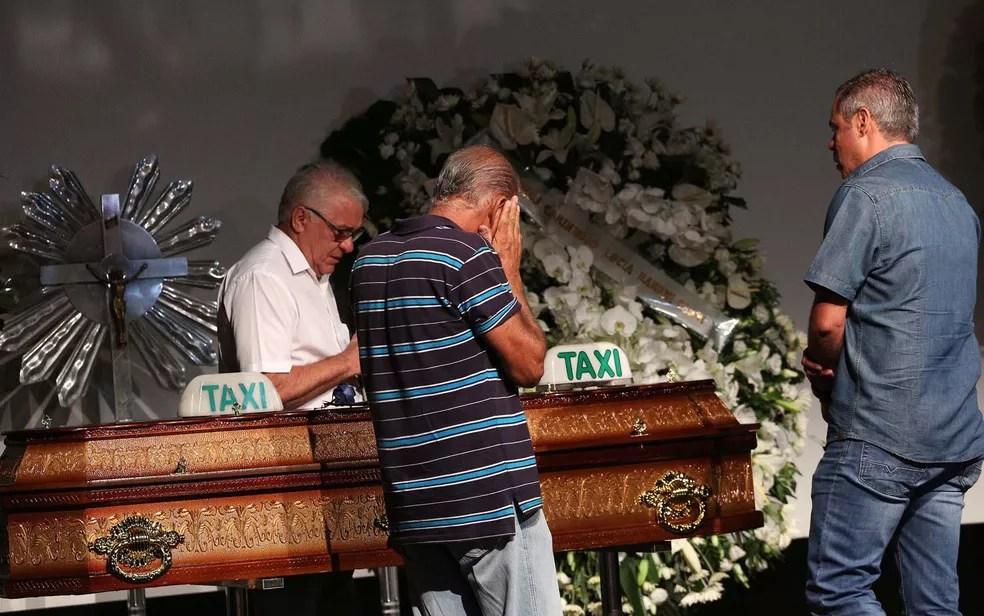 Corpo de Ricardo Boechat é velado em São Paulo — Foto: Renato S. Cerqueira/Futura Press/Estadão Conteúdo