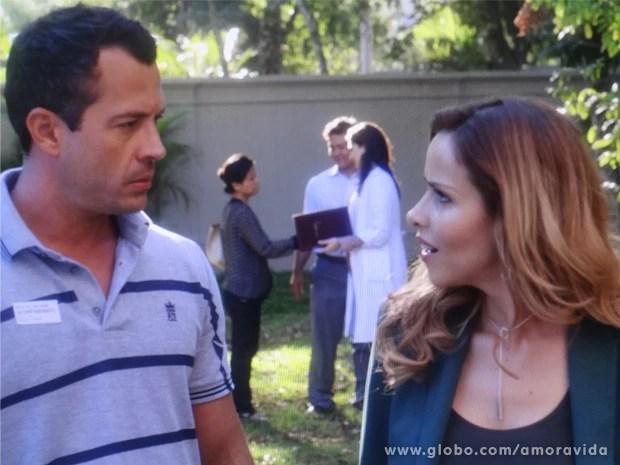 Bruno e Glauce conversam sobre o futuro após a recuperação de Paulinha (Foto: Amor à Vida / TV Globo)