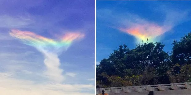 Arco-íris de fogo (Foto: Instagram / Divulgação)