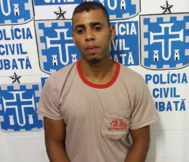 Roberto Soares, marido de Gilvane está preso em Ubatã após agredir mulher (Foto: Ubatã Notícias)