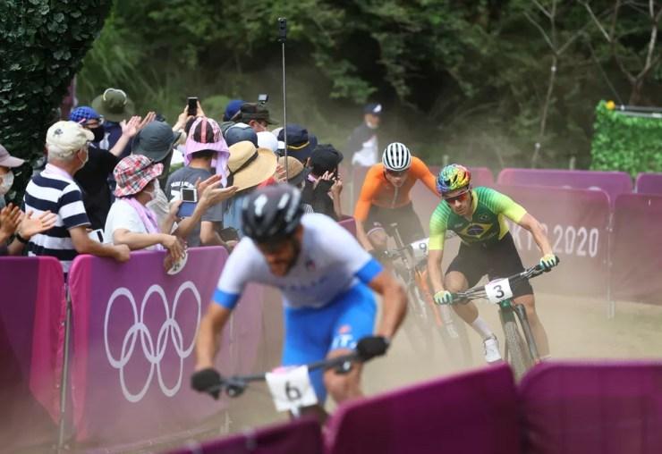 Henrique Avancini nas Olimpíadas — Foto: REUTERS/Matthew Childs
