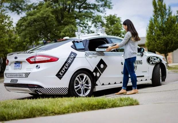 Carro autônomo da Ford vai entregar pizzas da Dominos (Foto: Divulgação)