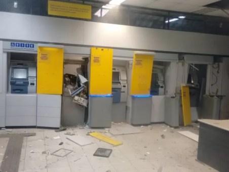 Banco do Brasil de Bom Jardim foi alvo de explosão (Foto: Lúcio Mauro Cabral/ WhatsApp)