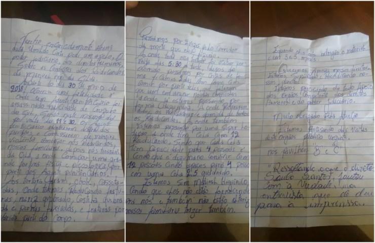 Em carta, presos denunciam agressões e 'corredor da morte' em presídio do interior do Acre (Foto: Reprodução)