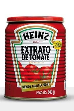 Amostras indicaram presença de pelo de roedor em lote do extrato de tomate Heinz. (Foto: Reprodução/HeinzBrasil)