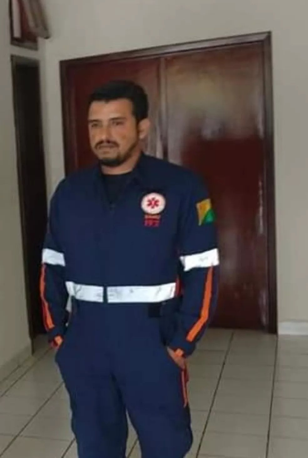 Condutor da ambulância José Augusto Aiache diz ter sido ofendido — Foto: Arquivo pessoal